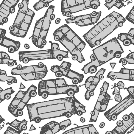 Toy cars collection, seamless pattern   Stock Vector - 21986153