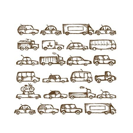 Set of cars collection  Stock Vector - 21986150