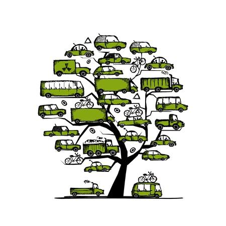 グリーン車, 輸送の概念を持つツリー