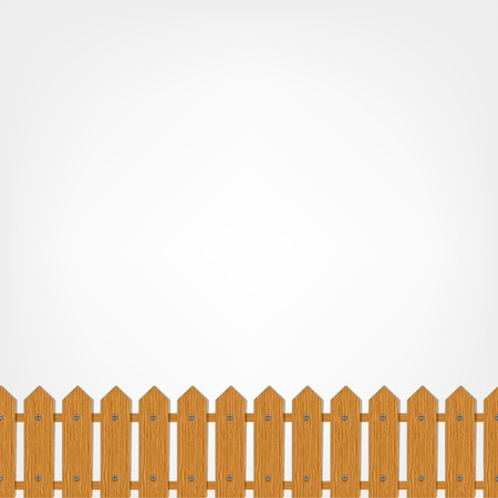 Wooden fence, seamless pattern   Vector