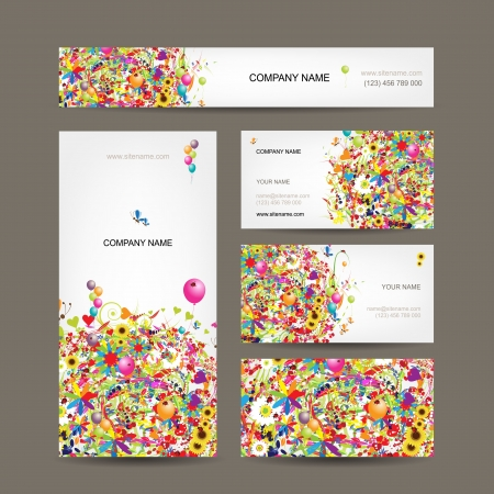 Set of business cards for your design Vector