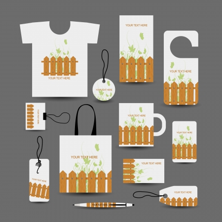 Corporate business objects, wooden style for your design Vector