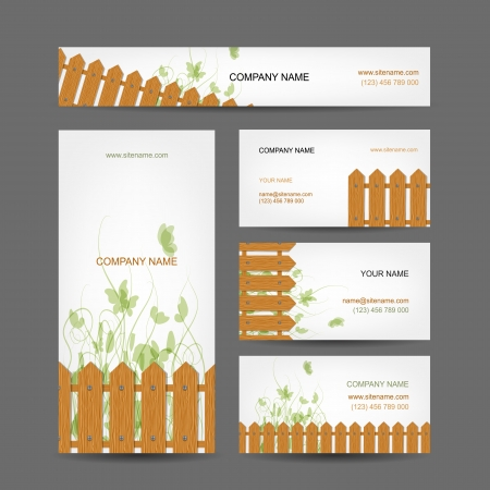 Business cards design, country style Vector