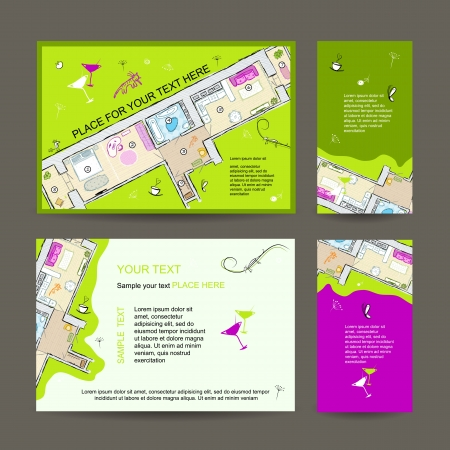 dwelling: New dwelling party. Invitation desing with place for your text