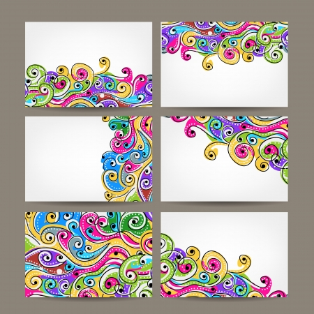 Abstract business cards collection for your design Illustration