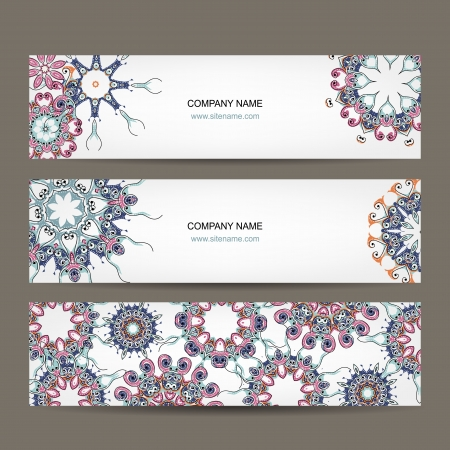 Floral banners design with place for your text Vector