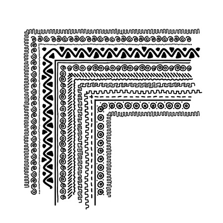 Design elements with ethnic handmade ornament Vector