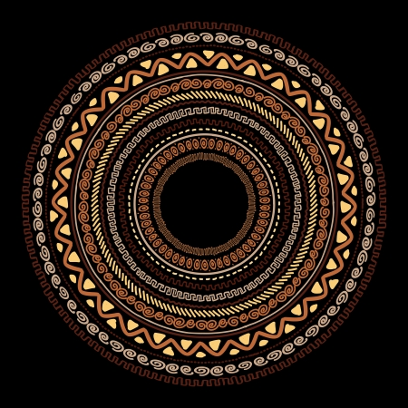 african culture: Frame with ethnic handmade ornament