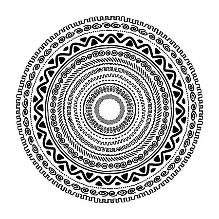 Round ornament design, ethnic style