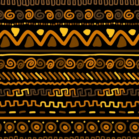 Handmade pattern with ethnic geometric ornament