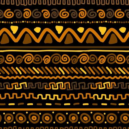 ilustraciones africanas: Patr�n hecho a mano con adornos geom�tricos �tnico Vectores