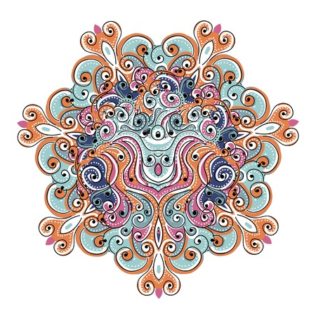 Colorful arabesque ornament for your design Vector