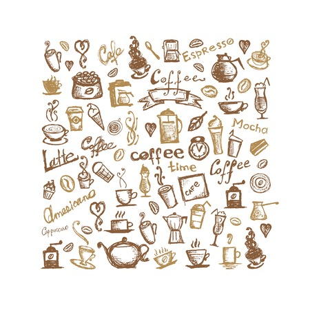 Coffee time, background for your design Vector