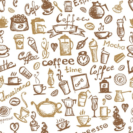Coffee time, seamless background for your design Stock Vector - 22697455