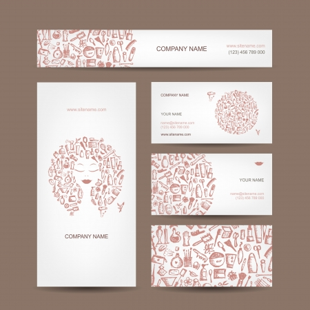 art product: Business cards design, cosmetics and accessories