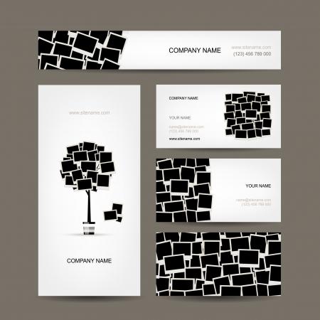 memory: Business cards design, photo frames