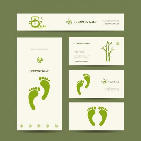 Business cards design, foot massage Stock Vector - 22697490
