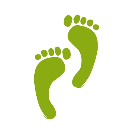 Sketch of green footprint for your design Stock Vector - 22697524