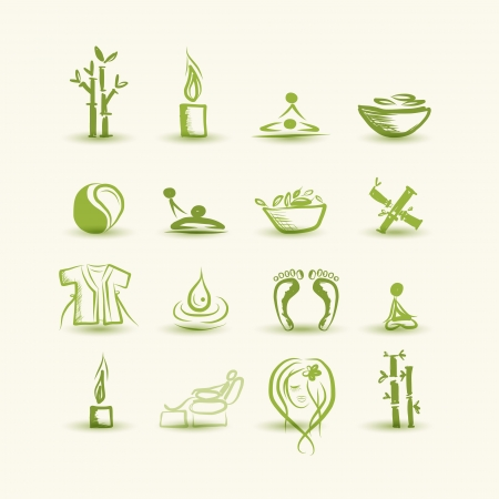massage spa: Massage and spa, set of icons for your design