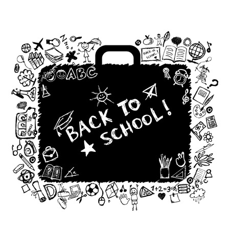 School bag sketch for your design Vector