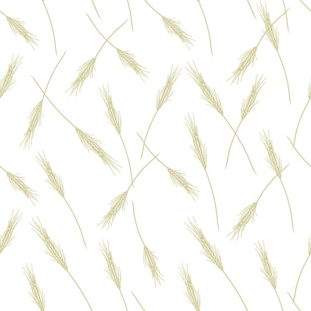 Wheat seamless pattern for your design Vector