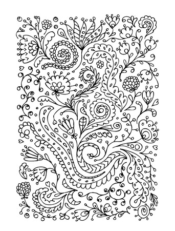 Floral ornament, hand drawn sketch for your design Vector