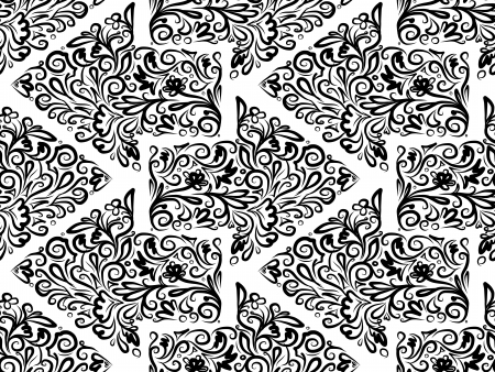 Seamless pattern with floral arrows, sketch for your design Vector