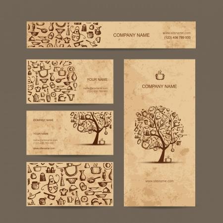 Corporate Business-Stil, Küche Design: T-Shirt, Aufkleber, Becher, Tasche, Karten Illustration