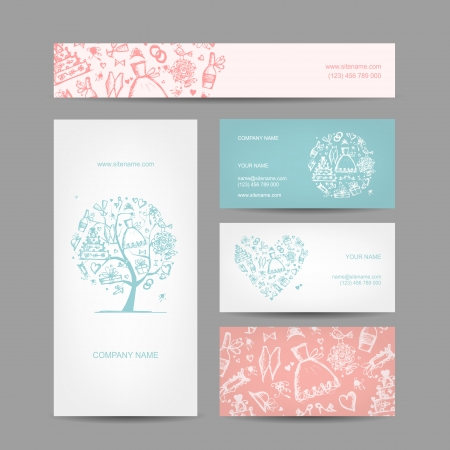 Business cards design, weddign concept Stock Vector - 22842491