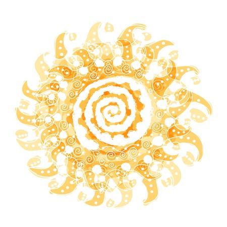 あなたの設計のための抽象的な太陽図形  イラスト・ベクター素材
