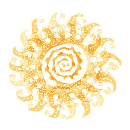 Abstracte zon vorm voor uw ontwerp