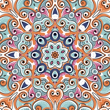 Arabic ornament, seamless pattern for your design Vector