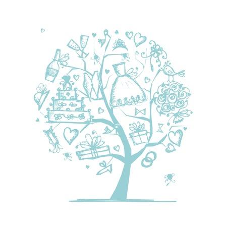 Hochzeits-Baum-Konzept für Ihr Design
