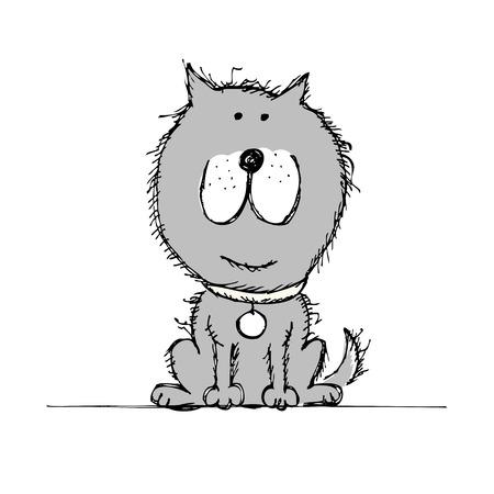 Funny dog sketch for your design Иллюстрация