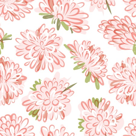 Floral seamless pattern, sketch for your design Stock Vector - 23228661