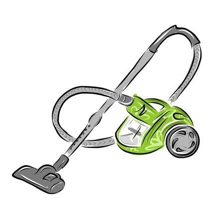 Vacuum cleaner, sketch for your design Vector