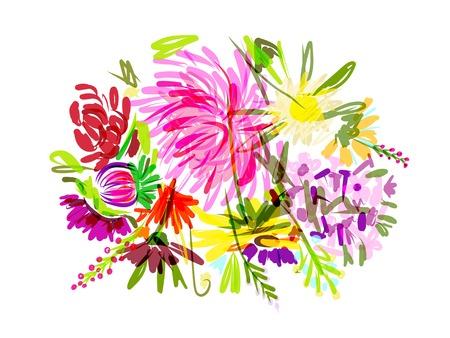 mazzo di fiori: Floral summer bouquet per la progettazione