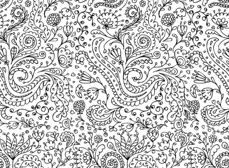 Ornamental floral seamless pattern for your design Vector