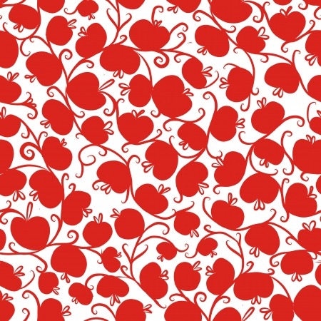Seamless pattern with red apples for your design Vector