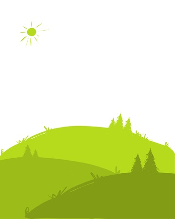 Green hills, landscape for your design Stock Vector - 24509290