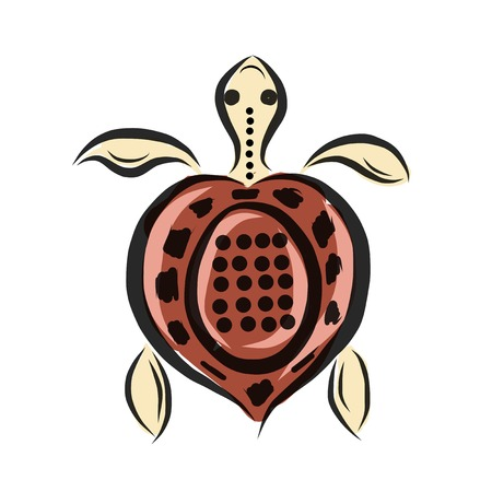 Funny sketch of tortoise for your design Vector