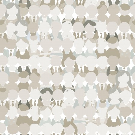 peoples: Abstract crowd of peoples, seamless pattern for your design Illustration