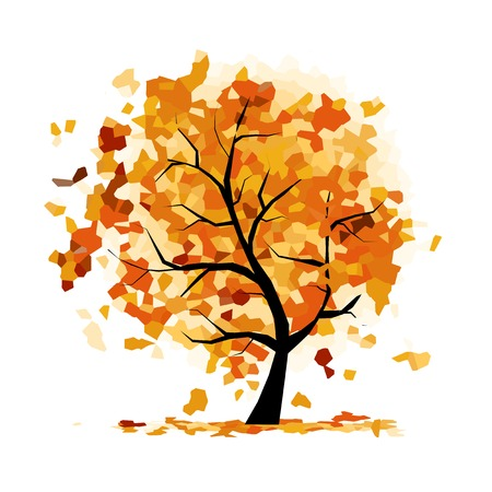 Abstract autumn tree for your design Vector