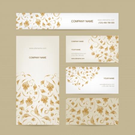florish: Business cards collection, floral design