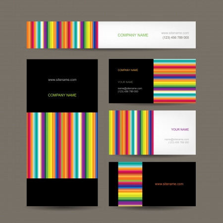 presentation card: Set of abstract creative business cards design
