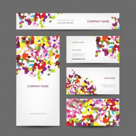 Set von abstrakten kreative Visitenkarten-Design