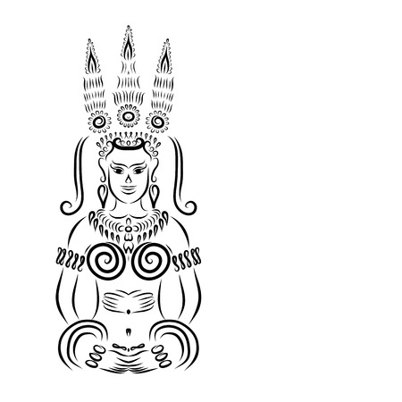 apsara: Apsara black silhouette