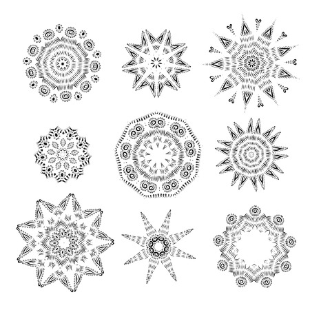 Arabesque ornament set Vector