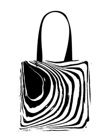 Shopping bag with zebra print for your design Vector