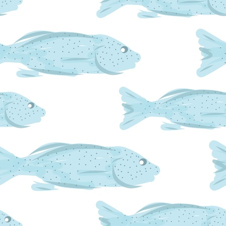 Fish pattern sketch for your design Vector
